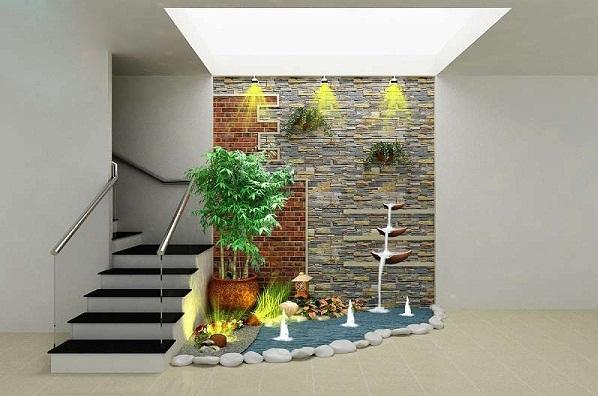 thiết kế tiểu cảnh dưới gầm cầu thang