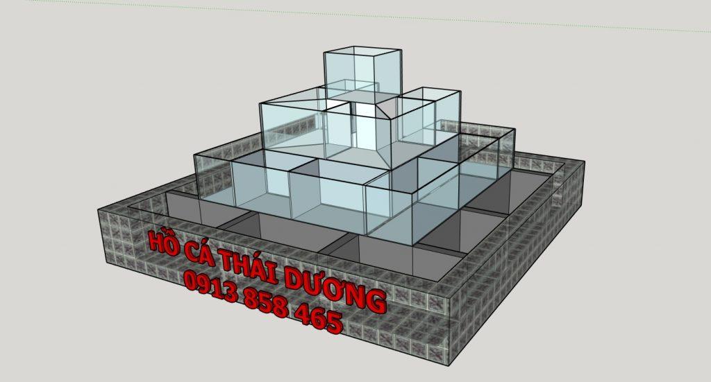 Thiết kế hồ hải sản hình tháp